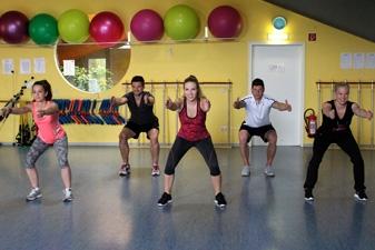 Squash & Fit Fitness Kursbereich