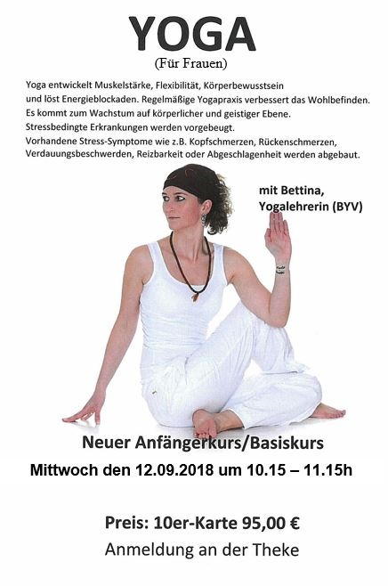 Yoga kennen und lieben lernen mit Bettina.